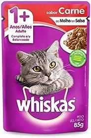 Ração Úmida Para Gatos Whiskas Sachê Carne ao Molho Adultos 85g