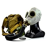 Genuine Original Soviet Russian gas mask GP-5 with black hose Surplus USSR face mask (Large)