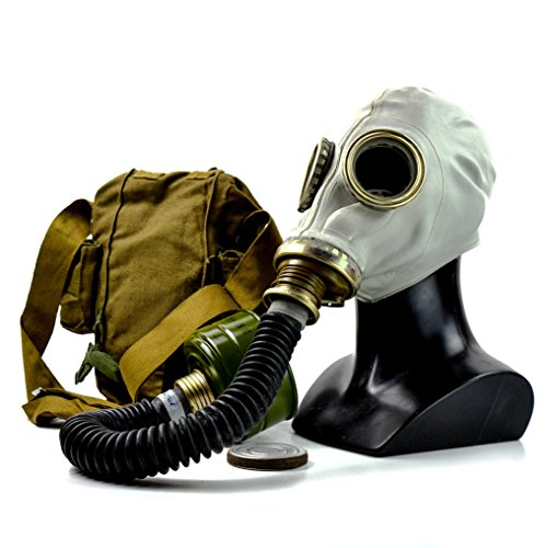 Genuine Original Soviet Russian gas mask GP-5 with black hose Surplus USSR face mask (Large) by Russian gas mask