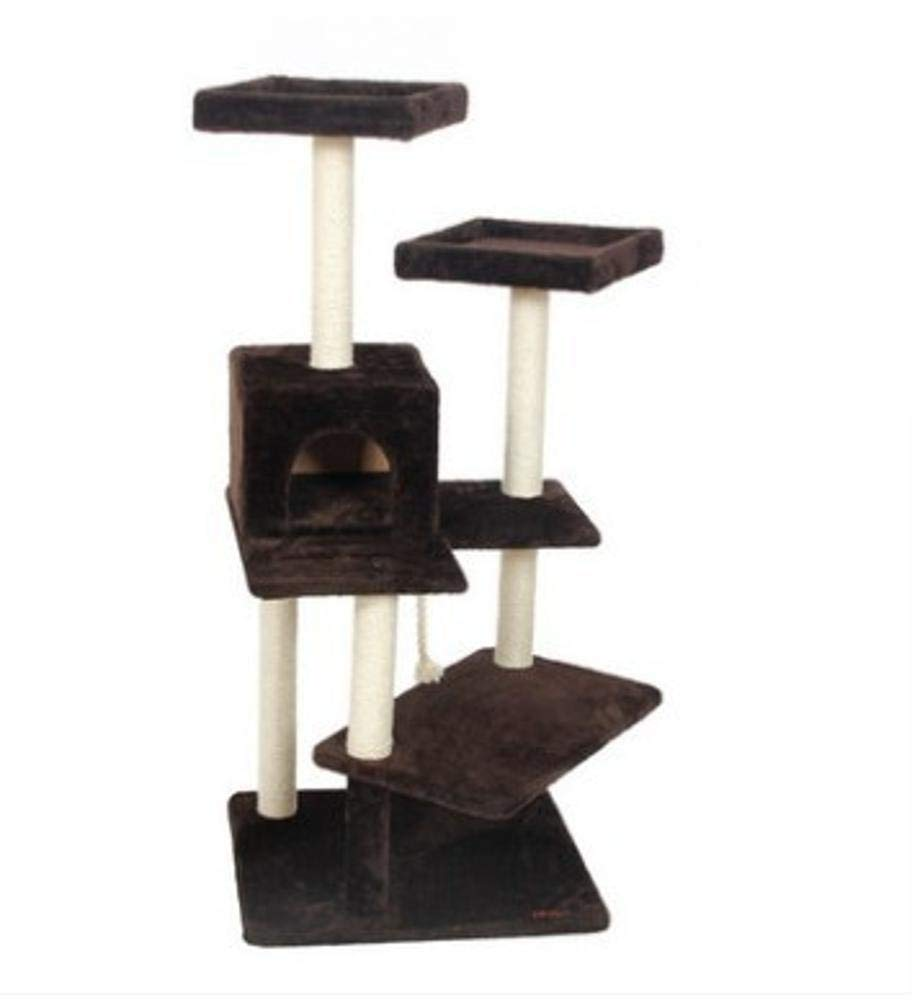 A Cat Furniture Play Towers and Trees Cat Play Towers Large Cat Scratch Strap cat Litter cat Platform cat cat Jumping sisal cat Toy Cat Plush (color   A)
