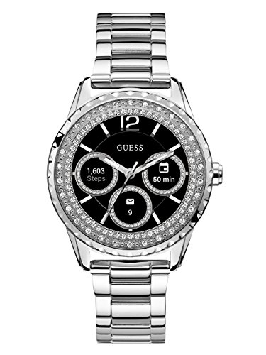 GUESS-Womens-C1003L3-Connect-Androidwear-Analog-Digital-Display-Silver-Watch