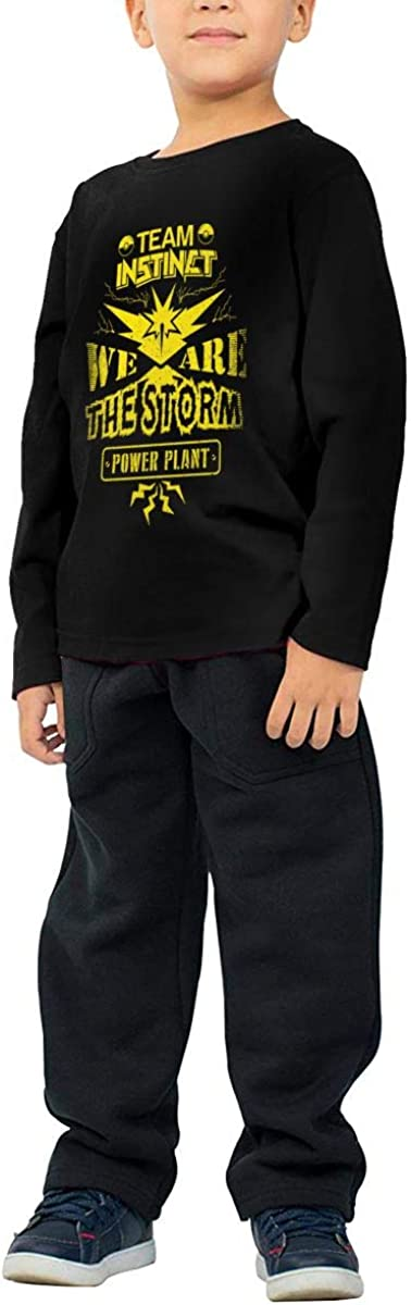 We are The Storm Childrens Long Sleeve T-Shirt Boys Cotton Tee Tops