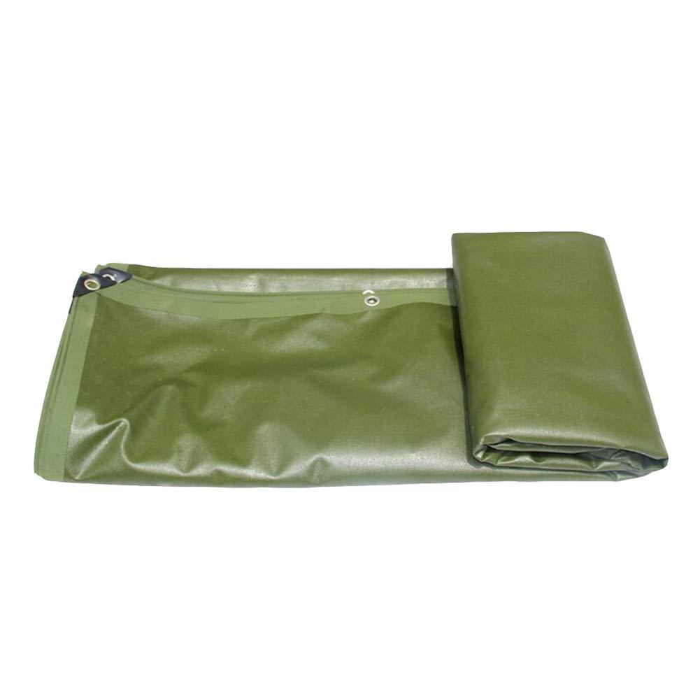 DALL ターポリン タープ 防水 防雨 太いキャンバス レインカバー シェードクロス 680G /㎡ (色 : Green, サイズ さいず : 4*6) 4*6 Green B07KQTYWL8