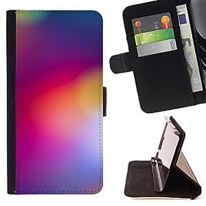 BullDog Case - FOR/Samsung Galaxy S6 / - / blurry purple yellow lights color colors /- Monedero de cuero de la PU Llevar cubierta de la caja con el ID Credit Card Slots Flip funda de cuer