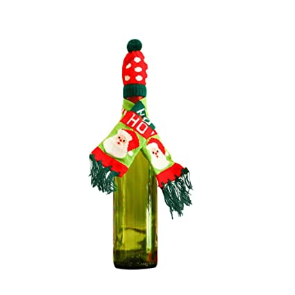 Image Unavailable. Image not available for. Color  Christmas Wine Bottle  Cover 346af42f47a