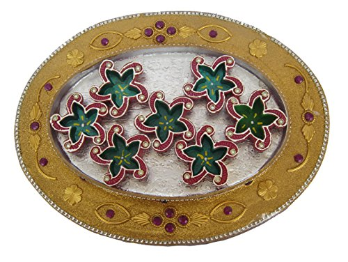 Craft Art India Handmade Earthen Clay / Terracotta Decorative Dipawali / Diwali Diya / Tealight / Oil Lamps for Pooja / Puja by Craft Art India