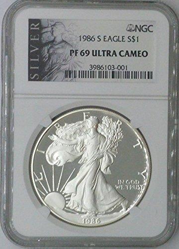 1986 S American Eagle $1 PF69 NGC PF
