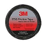 3M 57173-S-10 Temflex Friction Tape 1755, Black, 1.5 Inches X 60 Feet