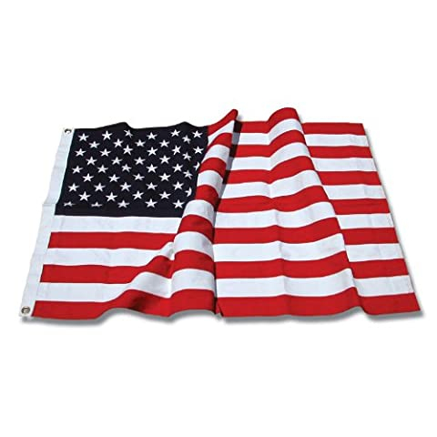 US Flag Store Sewn Cotton American Flag, 3 by 5-Feet - Cloth Flag