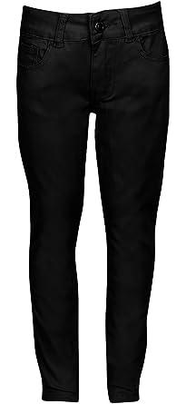 Amazon.com: Premium Skinny Stretchable School Uniform Pants for ...