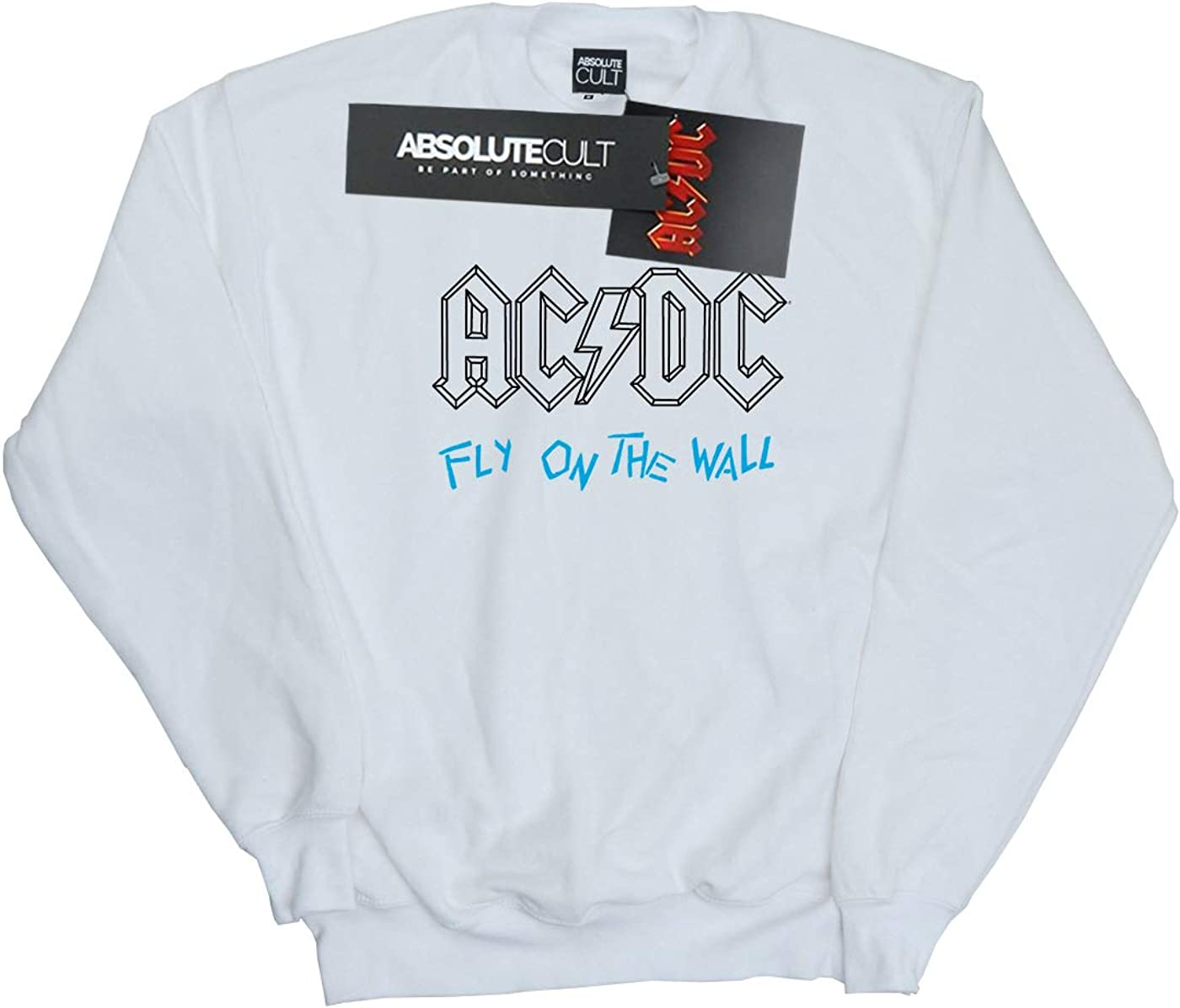 AC/DC Damen Fly On The Wall Outline Sweatshirt Weiß