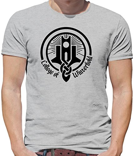 College Of Winterhold - Mens Crewneck T-Shirt - Grey Small