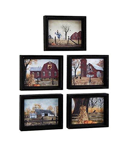 Assorted Harvest Framed Art - Set of -