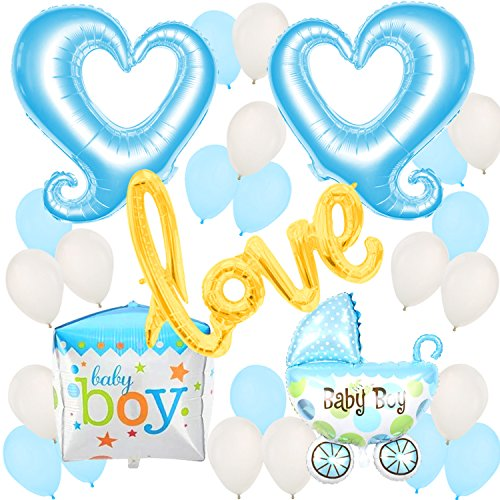 Baby Shower Balloons, Decorations and Gifts for Boys - Gender Reveal Party - Baby Announcement - Kids Party Decorations