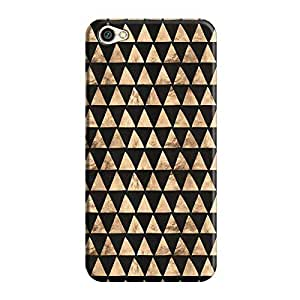 Cover It Up - Brown Black Triangle Tile Redmi Y1 Lite Hard Case