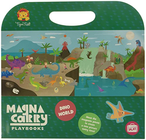 Tiger Tribe Magna Carry Playbook Activity Set, Dino World, 10