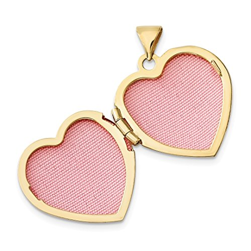 ICE CARATS 14k Two Tone Yellow Gold 18mm Heart Butterfly Photo Pendant Charm Locket Chain Necklace That Holds Pictures Fine Jewelry Gift Set For Women Heart by ICE CARATS (Image #3)