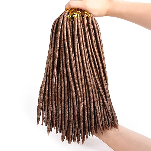 6 Packs Crochet Faux locs 24 strands Soft Dread Lock Hair Crochet Twist Braids Kanekalon Fiber synthetic hair extension 27# 12inches