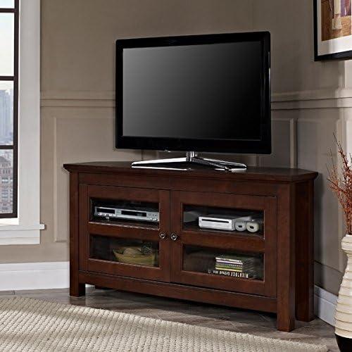 Mueble de Consola de TV de 104 cm Tradicional marrón de Madera para Esquinas de Muebles, Armario de televisión Plano con Soportes de Plasma Centro de Entretenimiento: Amazon.es: Juguetes y juegos