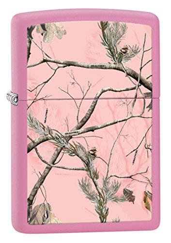 (Zippo Realtree APC Camo Pink Matte Pocket Lighter)