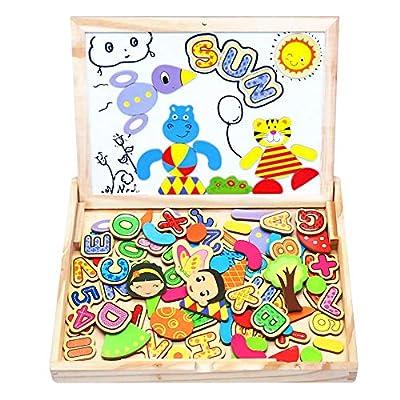 Yoptote Puzzle Magnetico Legno Giocattolo Di Legno 100 Pezzi Apprendimento Educativo Magnetica Lavagnetta Per Bambini 3 Anni 4 Anni 5 Anni