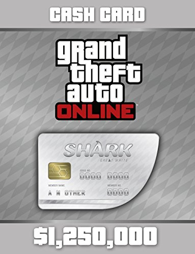 Grand Theft Auto V:  Great White Shark Cash Card - PS4 [Digital Code] by Rockstar Games