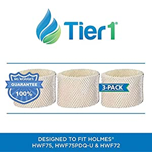 Tier1 HWF75PDQ-U Comparable Holmes HWF75 Type D Replacement Humidifier Filter for Holmes Models HWF75CS 3 Pack