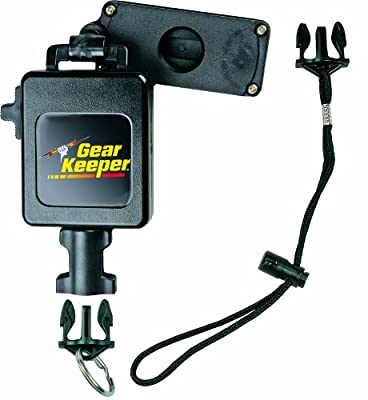 """Gear Keeper RT3-7612 Retractable Instrument Tether with Clamp On Multi-Mount Belt Clip, 80 lbs Breaking Strength, 12 oz Force, 42"""" Extension"""