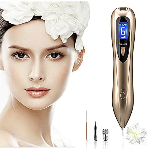 Mole Removal Pen, USB Charging Laser Spot Removal Pen, Dark Spot Nevus Tattoo Dot Mole Remover Eraser Beauty Skin Machine with LCD Display Skin Tag Machine Professional Portable Beauty Pen