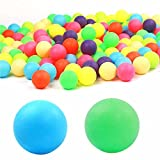 100 PCS Colored Ping Pong Balls Entertainment Table Tennis Balls Mixed Colors for Game Size 40mm