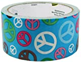 "Duck Brand Peace Sign Printed Duct Tape, 10 yards Length x 1-7/8"" Width"