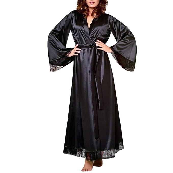 JiaMeng - Pijama - Moda - Bata Larga - para Mujer - JMQQ11: Amazon.es: Ropa y accesorios