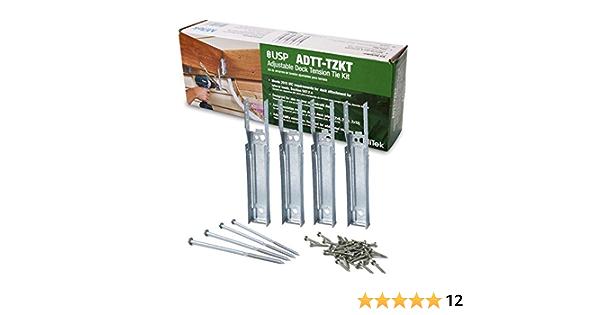 total 12 Joists Retrofit Adjustable Deck Tension Ties ADTT-TZKT   Hardware
