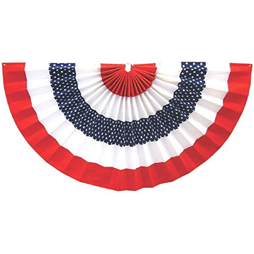 4th Of July Banners (Stars and Stripes Fourth of July Party Large Star Bunting Banner Decoration, paper, 36