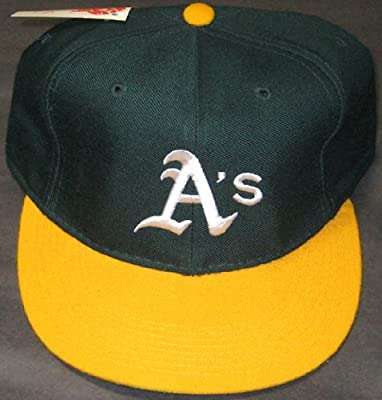New Era Diamond Collection Oakland Athletics A's Hat Green & Yellow 7 3/4