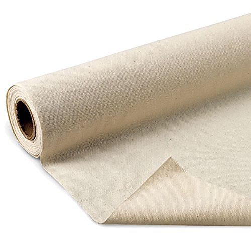 LA Linen Cotton Duck Canvas Cloth, 10oz. Natural Color, 60