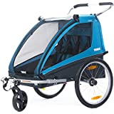 Thule Coaster2+ Bicycle Trailer/Stroll, Blue