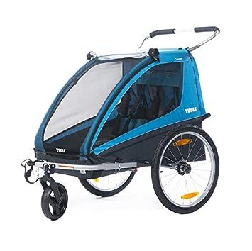 Thule Coaster Remorque De Vélo Poussette Bleu Amazonfr Bébés
