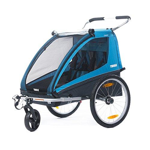 Ein hochwertiger Fahrradanhänger wird von der Marke Thule hergestellt.