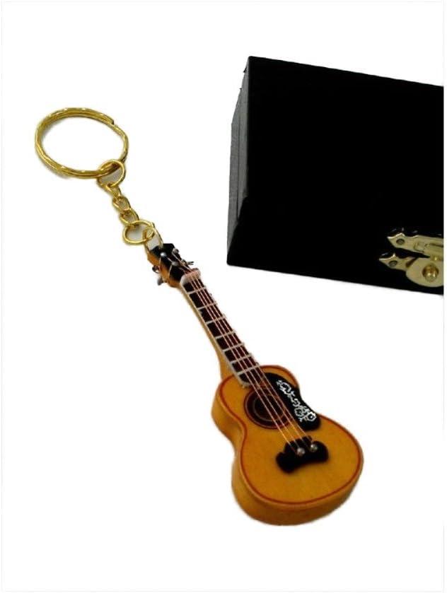2503-4660-Llavero guitarra española miniatura 8 centimetros. Con estuche: Amazon.es: Hogar