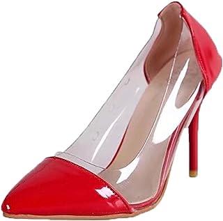 Escarpins Femme,Les Femmes Pompes Talons Hauts Transparents Pointu Toe Slip-on Chaussures De Noce,Sandales KA181212BA1490