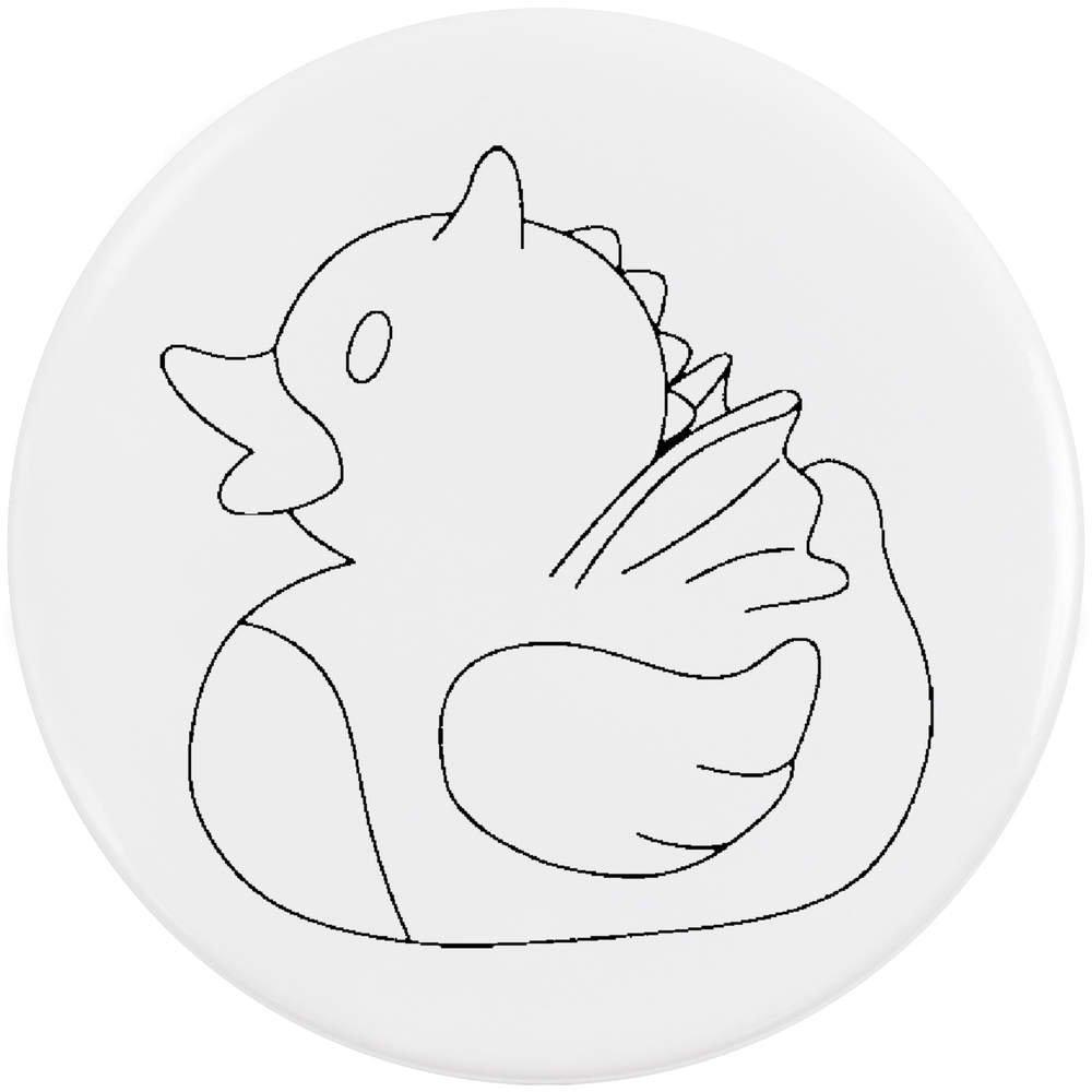 Azeeda 58mm 'Dragon Canard' Bouton de Badge (BB00017324)