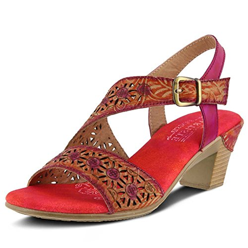 L'Artiste by Spring Step Women's Style Noreen Leather Sandal Fuchsia countdown package for sale 2014 newest sale footlocker pictures fVf9W6