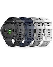TUSITA [4-Pack] Snabbsläpp 22mm Armband Kompatibel med Garmin Vivoactive 4, Venu 2 / Samsung Galaxy Watch 3 (45mm 46mm) / Fossil Gen 4 5 / Amazfit GTR 2 2e / Huawei Watch3, GT2 2E / TicWatch pro, pro3, GTX, E2, S2 / Polar Vantage M /YAMAY SW022 - Silikon Ersättningsband Klockband - Smartwatch Tillbehör