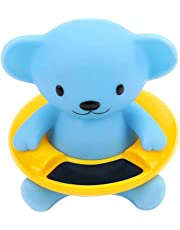 Baby Infant Bath Tub Water Temperature Tester Toy Animal Shape Thermometer Blue Bear Shape Blue 1pc