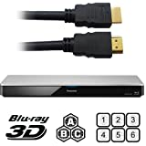 Int'l Version PANASONIC BDT360 2K/4K Smart Network All Region DVD Blu ray Player 2D/3D - 100~240V 50/60Hz Auto (6Feet HDMI Cable)