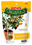 Jobe's Organics Fruit & Citrus Tree Fertilizer Spikes, 3-5-5 Time Release Fertilizer for all Container or Indoor Fruit Trees, 6 Spikes per Package