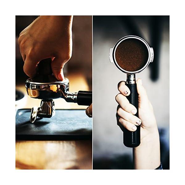 Premium Barista Coffee Tamper with 100/% Flat LuxHaus 49mm Espresso Tamper