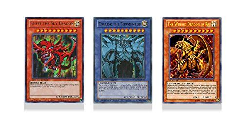 Mint Condition - YuGiOh - Slifer the Sky Dragon, Obelisk the Tormentor, The Winged Dragon of Ra (LC01-EN001, LC01-EN002, LC01-EN003) Ultra Rare Legendary Collection Cards (Obelisk The Tormentor And Slifer The Sky Dragon)