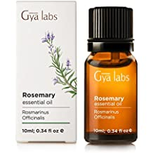 Rosemary Essential Oil 10 ml - 100% Pure, Undiluted, Organic, Natural & Therapeutic Grade for Aromatherapy, Skin and Relaxation - Gya Labs